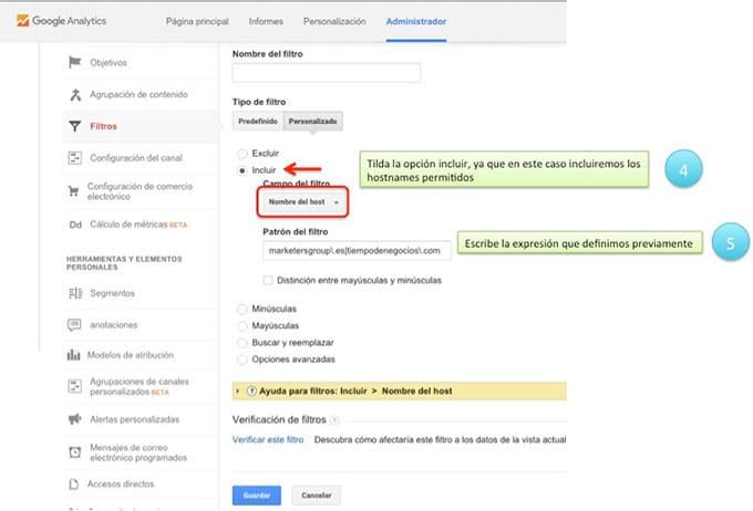 Crea filtro anti spam - Paso 3